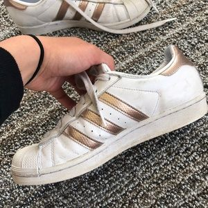 Shoes - Gold adidas superstars